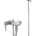 183 – Bold Single Lever Bath Mixer Wall Type With Bold Hand Shower
