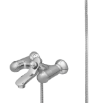 126 – Jazz (Quarter Round) Bath Mixer Wall Type With Noble Hand Shower (with disc Head Work)