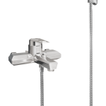 298 – Single Lever Bath Mixer Wall Type With Sapphire Hand Shower