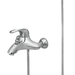 134 – Tempo Single Lever Bath Mixer Wall Type With Noble Hand Shower