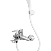 Arco Single Lever Bath Mixer wall type with common Hand shower