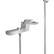 424 – Caspian Single Lever Bath Mixer Wall Type With Sapphire Hand Shower