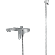 296 – Fab Single Lever Bath Mixer Wall Type With Sapphire Hand Shower