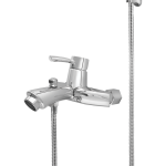 426 – Topaz Single Lever Bath Mixer Wall Type With Sapphire Hand Shower