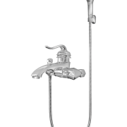 432 – Ornate Single Lever Bath Mixer Wall Type With Sapphire Hand Shower