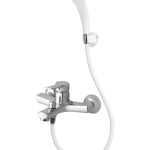 Remix Single Lever Bath Mixer Wall Type With Common Hand Shower