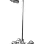 Eagle Single Lever Bath Mixer Wall Type With Legend Overhead Shower and 4 feet rod