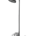 Remix Single Lever Bath Mixer Wall Type With Legend Overhead Shower and 4 feet rod